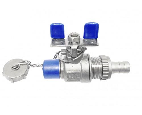 KFE Füll- und Entleerungshahn mit Verschlusskappe, Anschluss AG