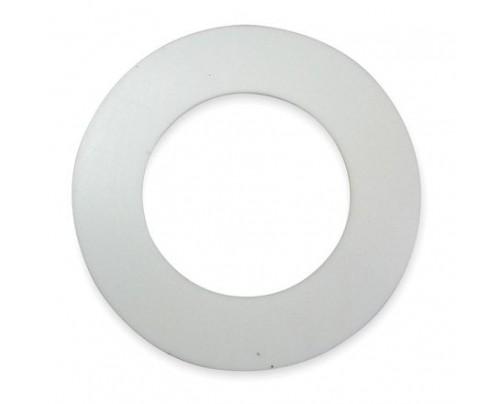 Union Flat PTFE Gasket Ring White