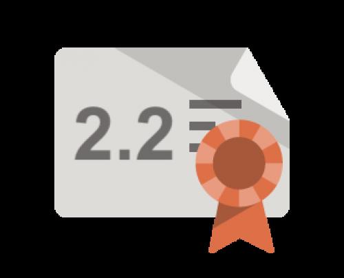 2.2 certificate