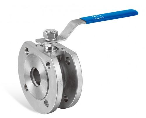 válvula esférica compacta de una pieza de paso total, conexión de brida