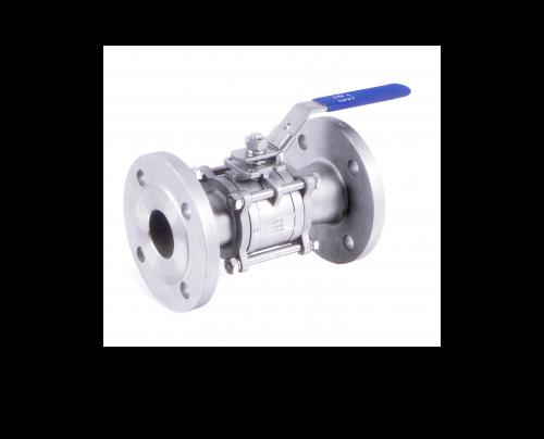 Válvula de bola de 3 piezas bridada PN 40